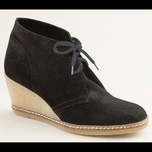 J. Crew McAllister Suede Laced Wedge Boots